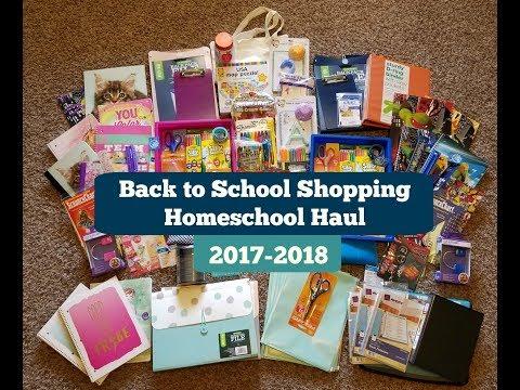 Back to School Shopping   Homeschool Supply Haul 2017-2018