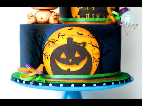 The Making of a Halloween Silhouette Cake