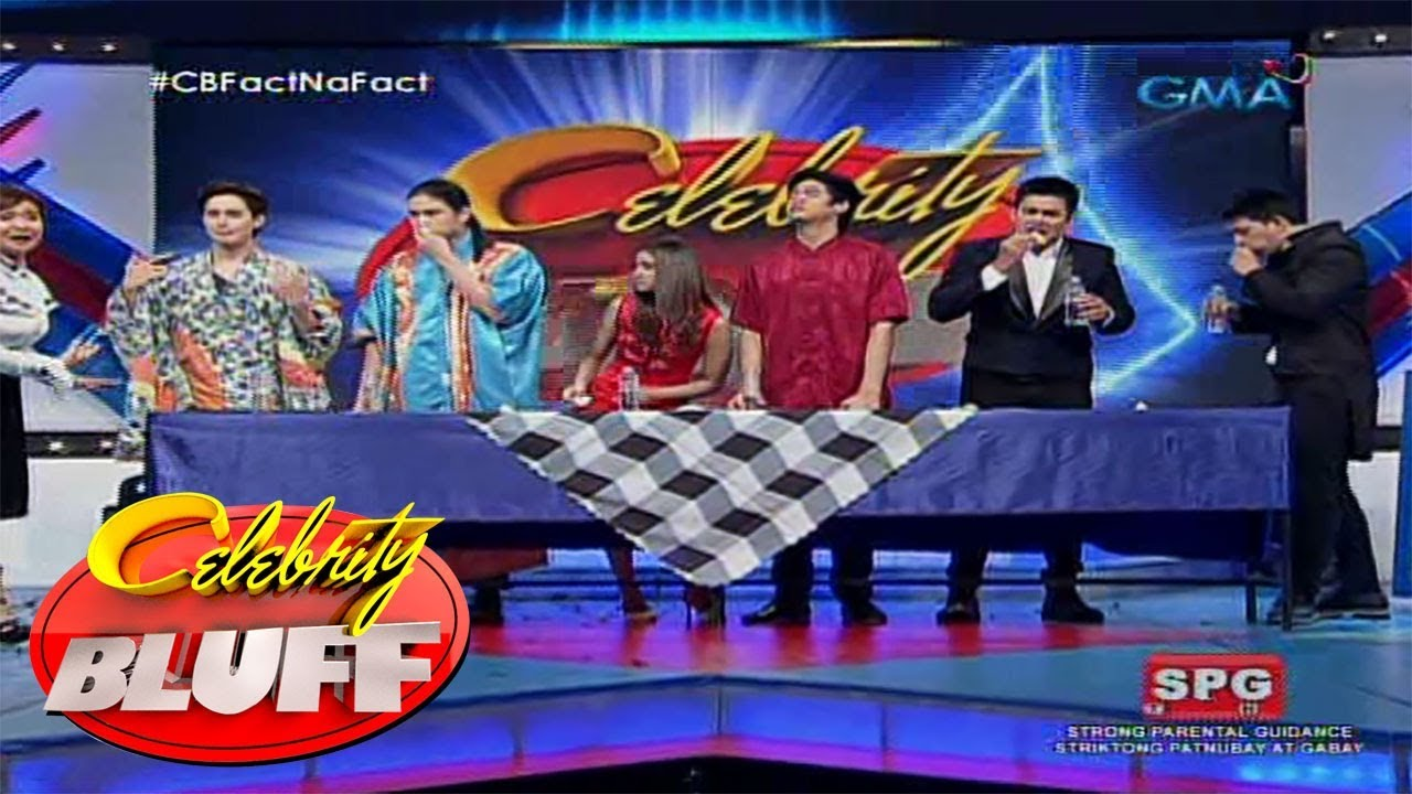Celebrity Bluff: Hamburger eating contest