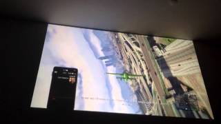 "Grand Theft Auto V on 100"" Full HD Projector screen (BenQ W1070)"