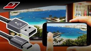 Como CONECTAR o CELULAR na TV usando o CABO USB