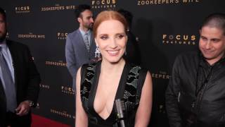 LA Premiere of The Zookeeper's Wife Interview w/ Jessica Chastain