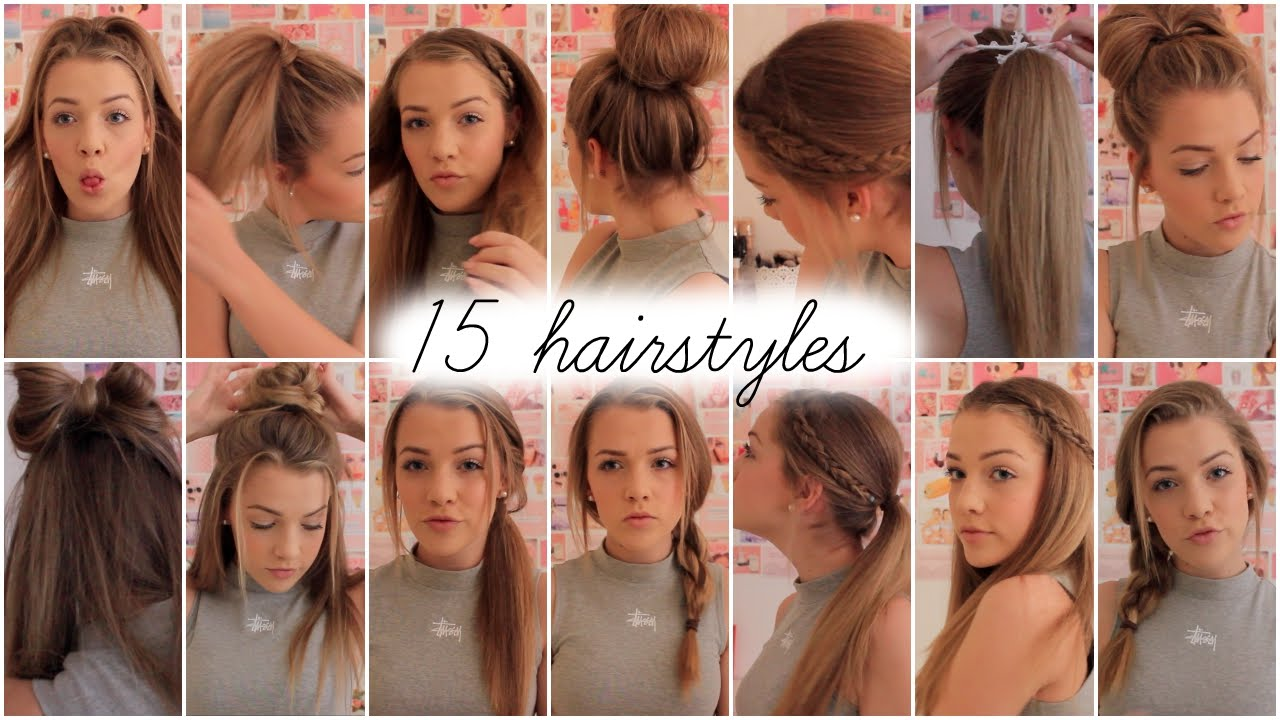 15 heatless hairstyles Lilyellaburt  - YouTube - Easy Heatless Hairstyles