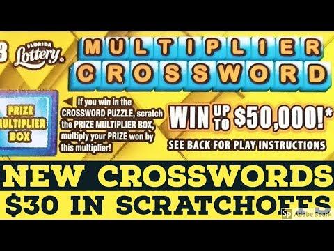 $30 In NEW Crosswords FL Lotto Scratchoffs