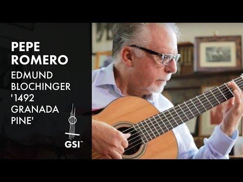 Pepe Romero plays Evocación by Angel Barrios (Blochinger Pine Guitar)