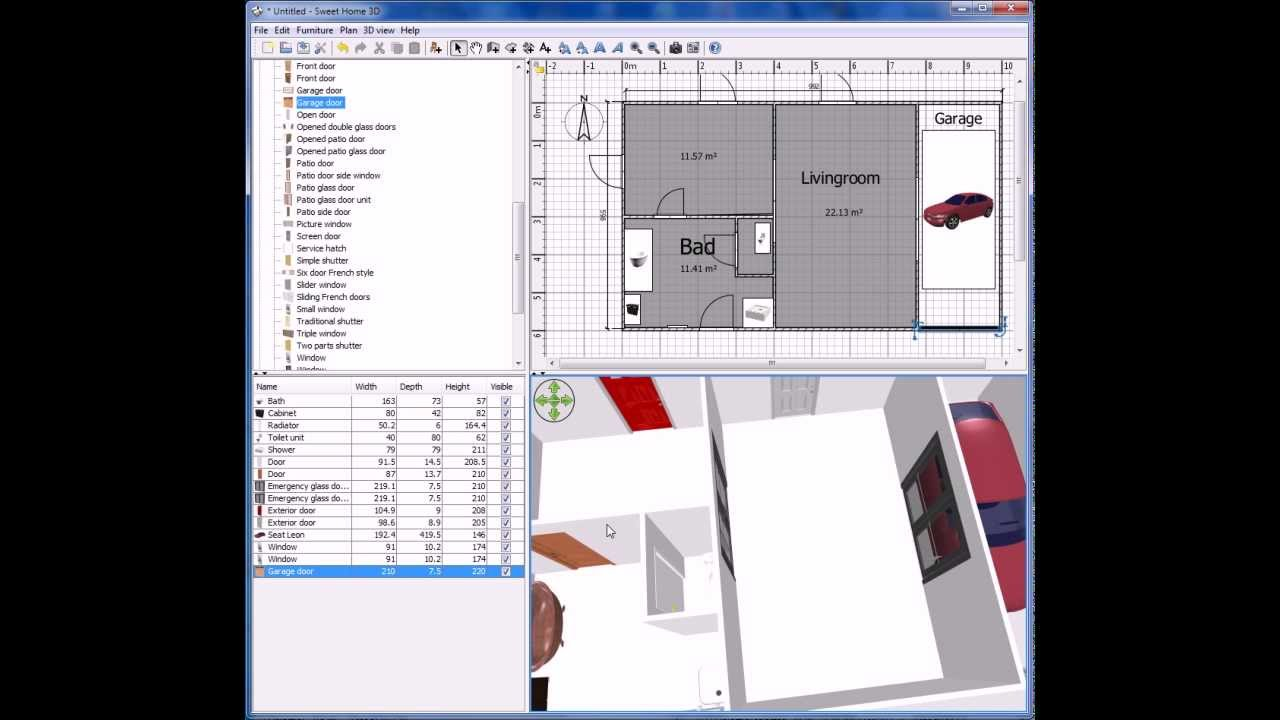 Attractive Creating A Plan House   Sweet Home 3d 1.part   YouTube