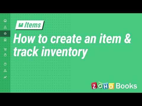 Items | Help | Zoho Books