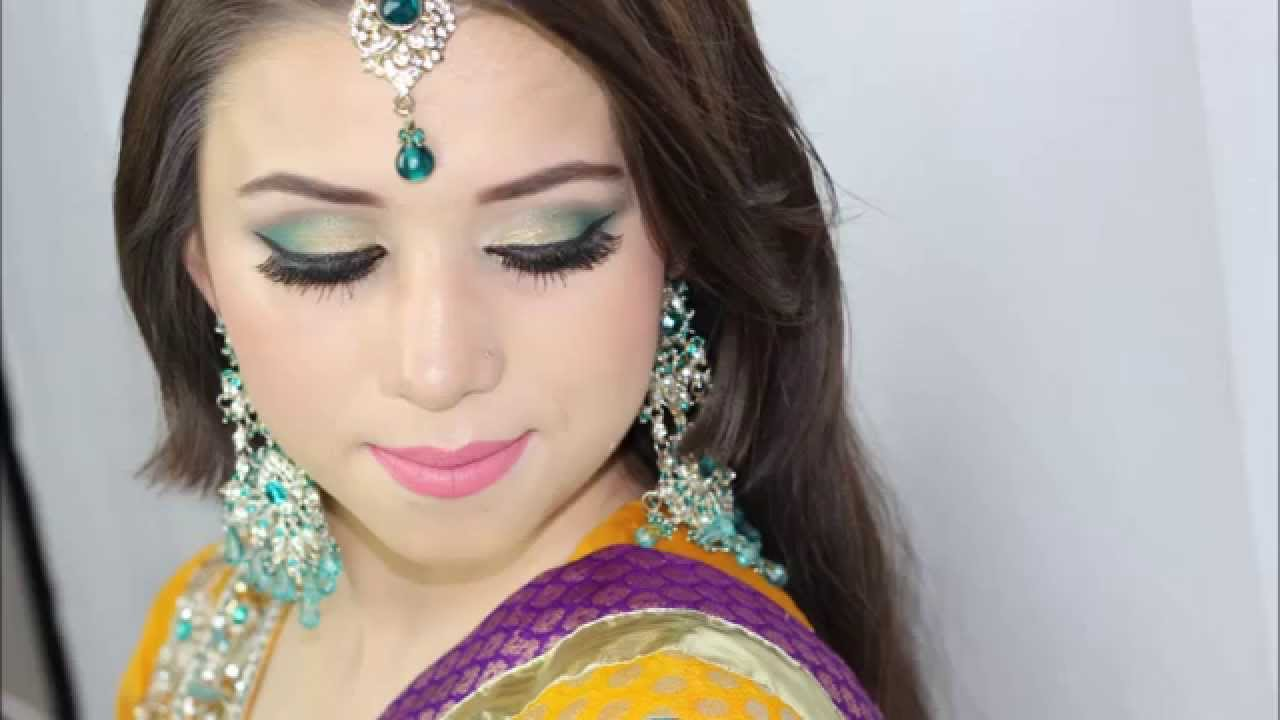 Mehndi Makeup And Hairstyle : Mehndi bridal makeup and hair by aishi hd youtube