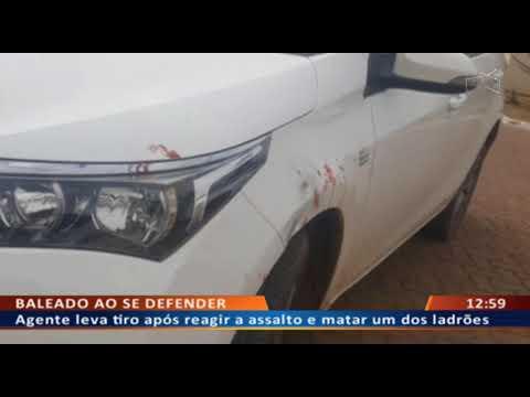 DFA - Agente leva tiro ao reagir a assalto e matar um dos ladrões