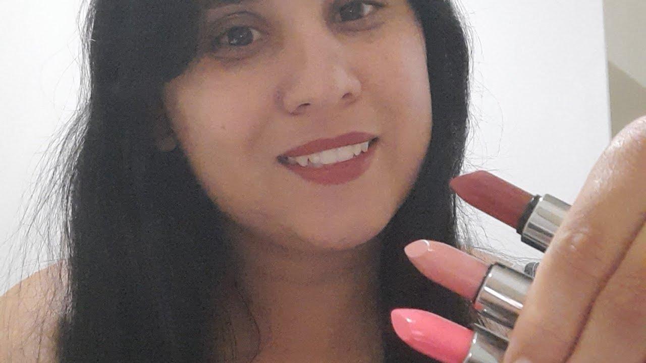 #RESENHA DOS BATONS  DA NATURA DA AQUARELA : ROSA 215,ROSA 200 E VERMELHO 120