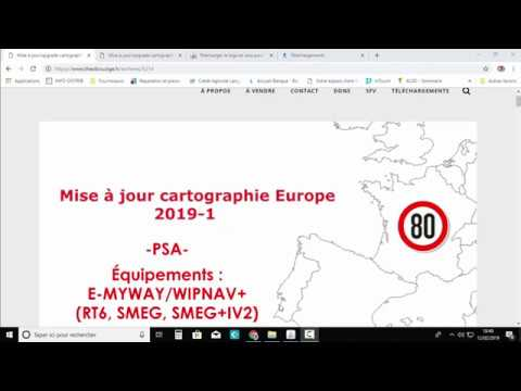 Mise à jour/upgrade cartographie PSA Europe 2019-1 e-MyWay