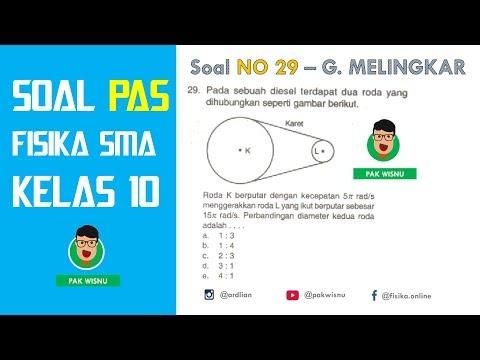 Hubungan Roda Roda - Soal GERAK MELINGKAR (No 29) PAS/UAS Fisika SMA Kelas 10