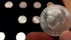 Hier die gesuchten ersten fünf DM 5.- - Gedenkmünzen der Bundesrepublik