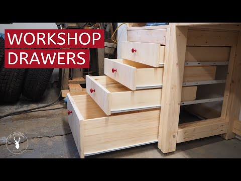 How to Build Shop Drawers with Euro Slides