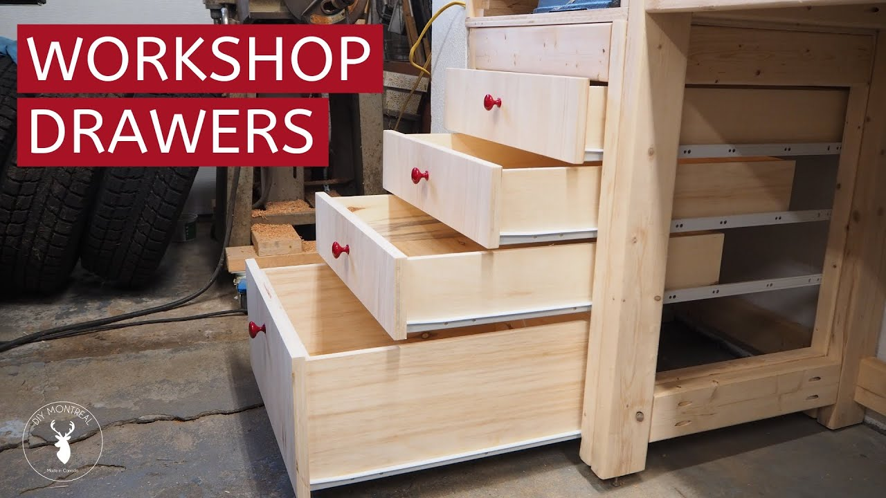 How to Build Shop Drawers with Euro Slides - YouTube