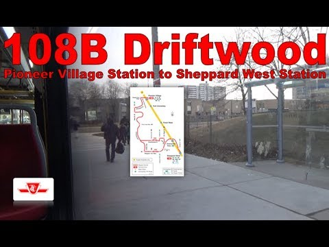 108B Driftwood - TTC 2016 Nova Bus LFS 8593 (Pioneer Village Station to Sheppard West Station)