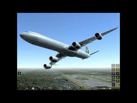 [HD]Infinite Flight Airbus A340 .South African sounds ,Infinite pax+copilot assistant