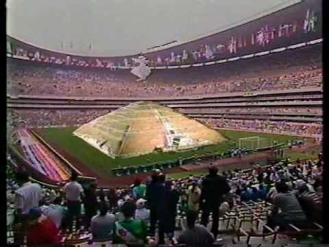 Mexico 1986 inauguracion parte 1 youtube for Piscina 86 mundial madrid