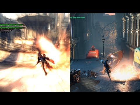 Devil May Cry 4 and 5 - Nero combat animation comparisons thumbnail