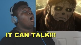 IT CAN TALK! - Attack On Titan Season 2 (REACTION)