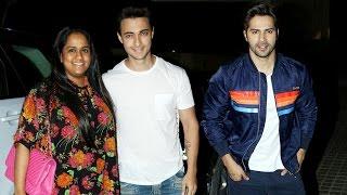 Salman Khan's Sister Arpita With Aayush Sharma At Badrinath Ki Dulhania Screening