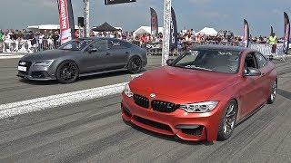 740HP BMW M4 vs 950HP Audi RS7 Coupé vs 500HP Volvo V50 T5