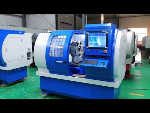 Diamond Cutting CNC Lathe For Alloy Wheel Rim Repair WRM26H