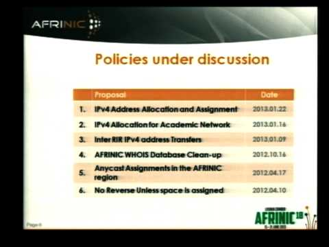 Public Sector's Interest in TV White Space - Anne-Rachel Inne (Afrinic)