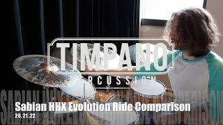 """Sabian HHX Evolution Ride Comparison: 20"""", 21"""", 22"""""""