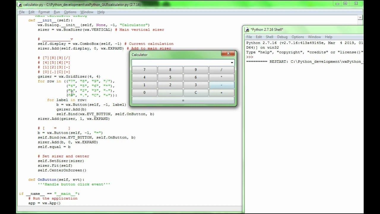 wxpython Calculator   Tutorial101