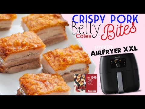 Coles Crispy Pork Belly Bites in Philips AirFryer XXL Avance Collection HD965191 - AIR FRYING