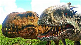 Download Video Ark Survival Evolved: Indominus Rex Vs Vastatosaurus Rex! [V. Rex][Híbrido] Treta Jurassica #11 MP3 3GP MP4