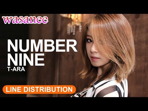 T-ARA - Number Nine「without Jiyeon」- Line Distribution (Color Coded Live)