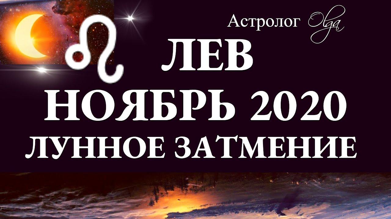 ЛЕВ – НОЯБРЬ 2020 – ЛУННОЕ ЗАТМЕНИЕ в 11 доме. Астролог Olga