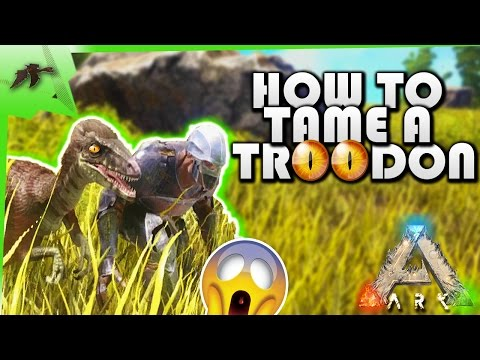 How To Tame A Troodon/Taming Pen- Ark Survival Evolved Xbox One- Kamz25