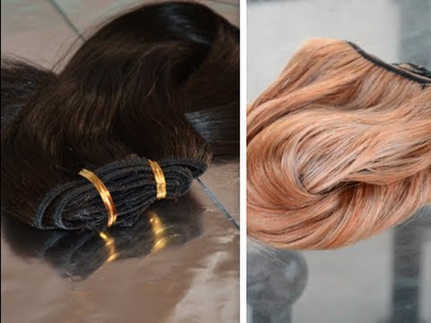 ♡How To Dye Hair Extensions♡