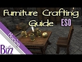 Furniture Crafting Guide ESO - Elder Scrolls Online Homestead How to make Furniture