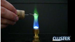 Fuego de colores-Emisión en llama