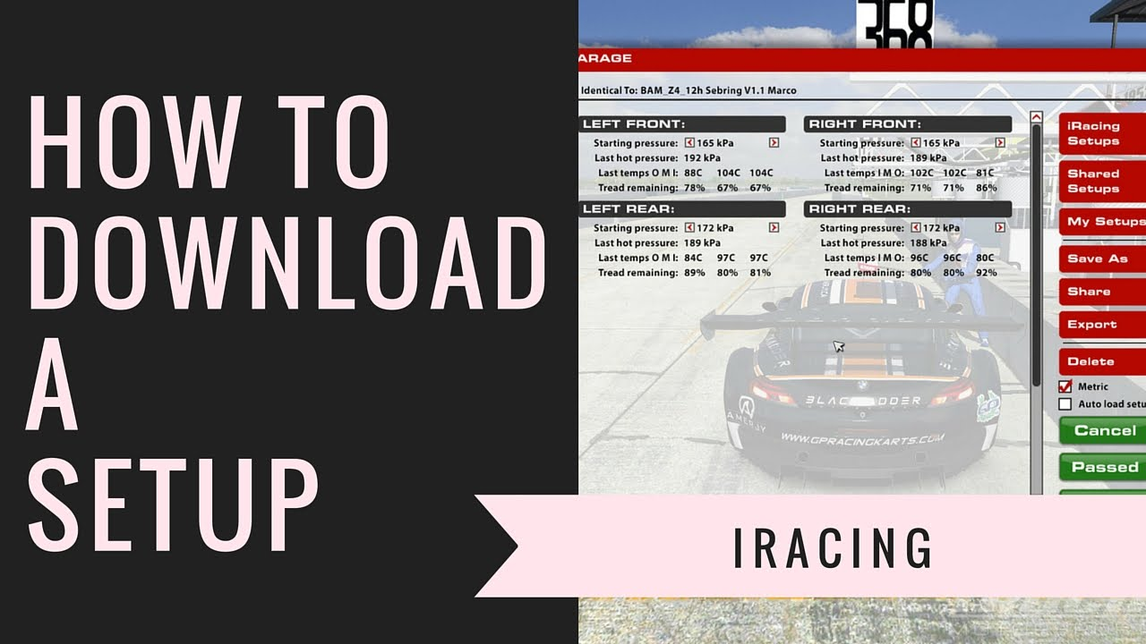 Iracing - How to Download a Setup
