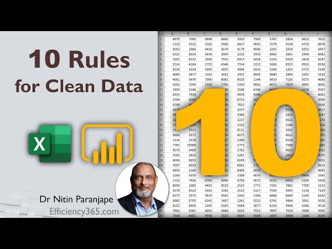 Ten rules for clean data in Excel and Power BI