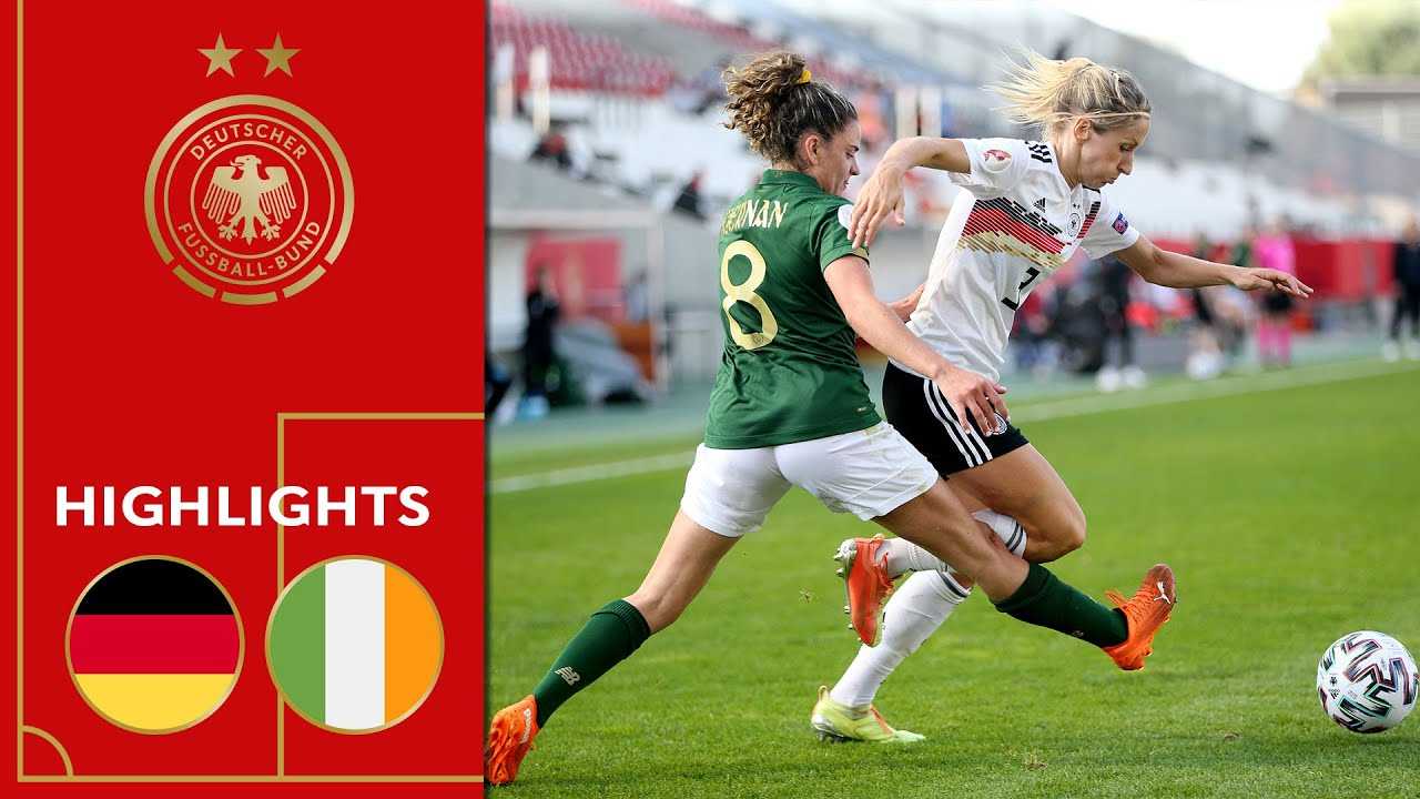 Germany vs. Ireland 3-0 | Highlights | Women's Euro Qualifier