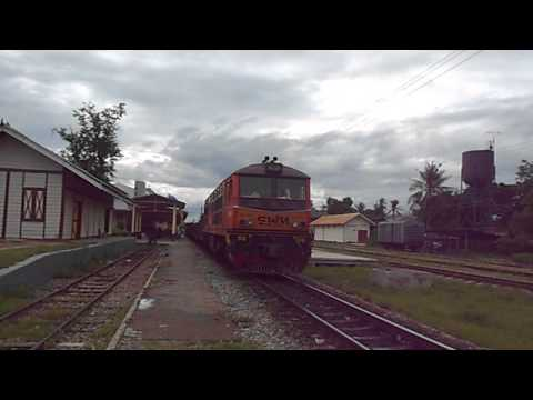 SRT Alsthom 4414 locomotive steel freight train to malaysia