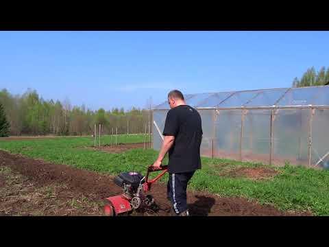 Вспашка огорода весной культиватором MTD T/240