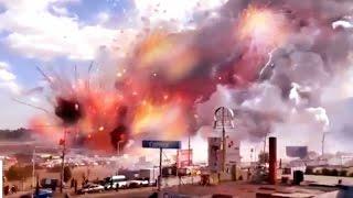 Incendio en Mercado de Cohetes en Tultepec con gran Explosión