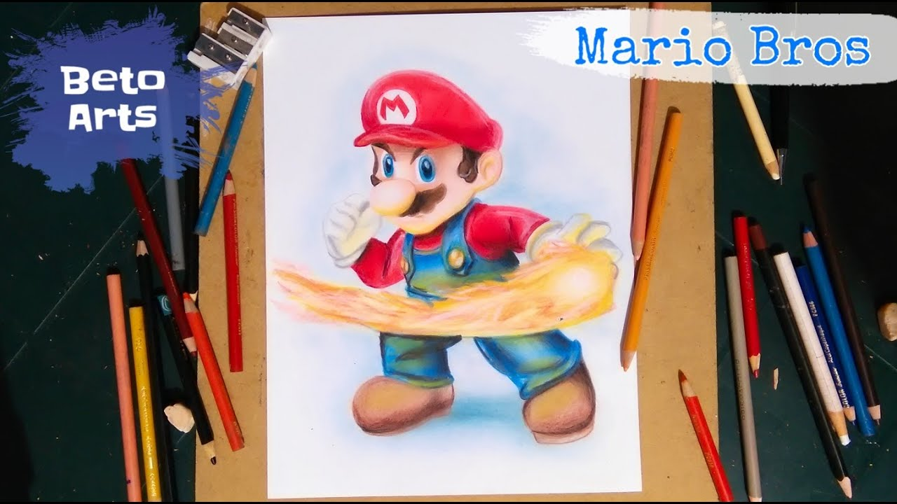 Speed Drawing Mario Bros Youtube