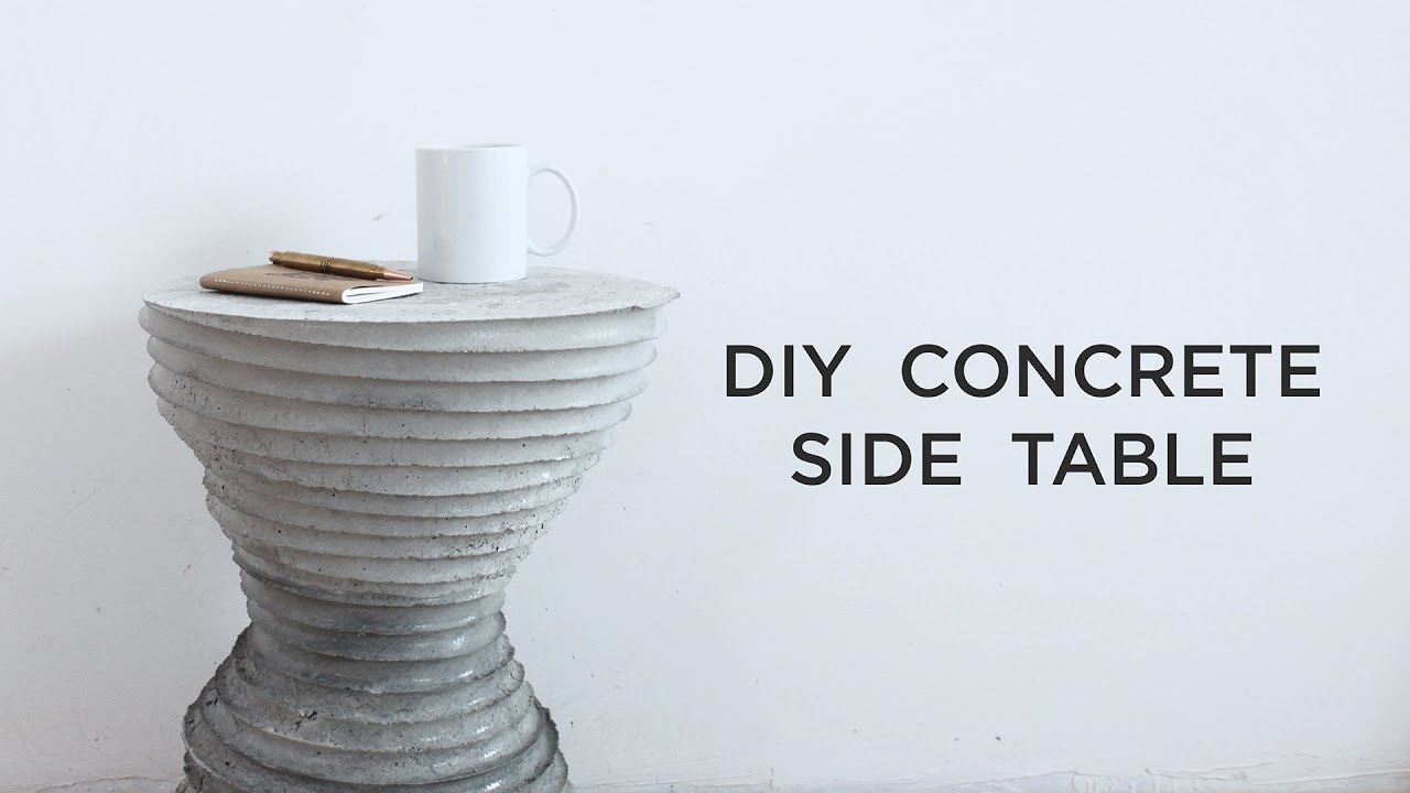 concrete side table. DIY Concrete Side Table | Casting Experiments