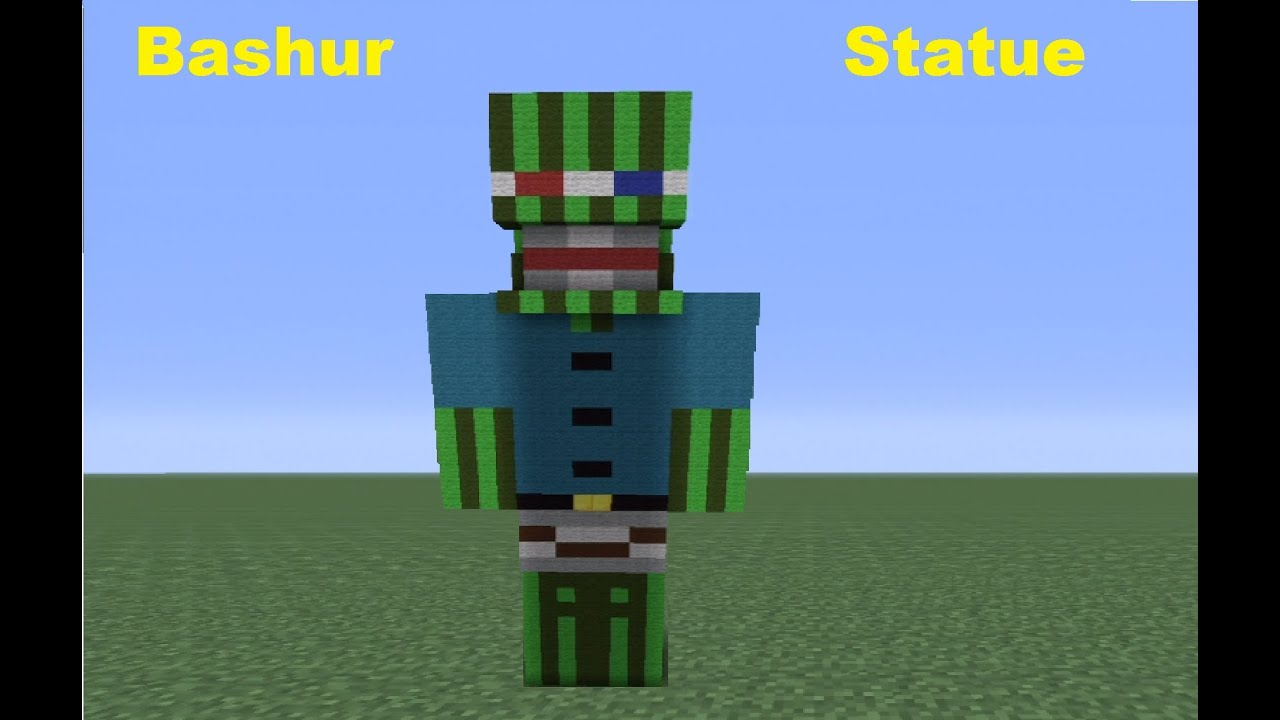 how to make a minecraft skin statue