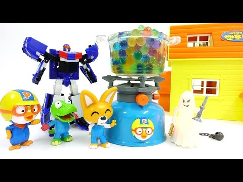 Thumbnail: Slime Monster Invade Pororo House, Go ~! Hello Carbot Police Car Skid