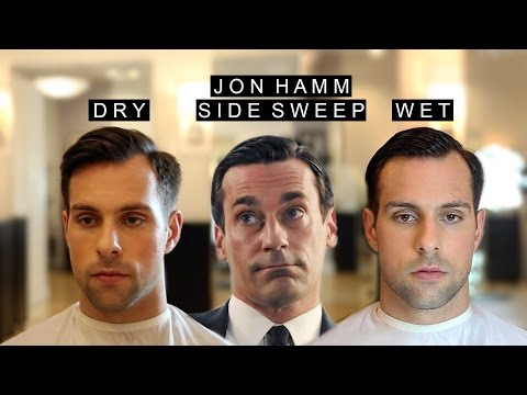Jon Hamm Inspired Side Sweep | 2 in 1 Hairstyles | GQ Looks /w Natural Part | Wet and Dry Looks