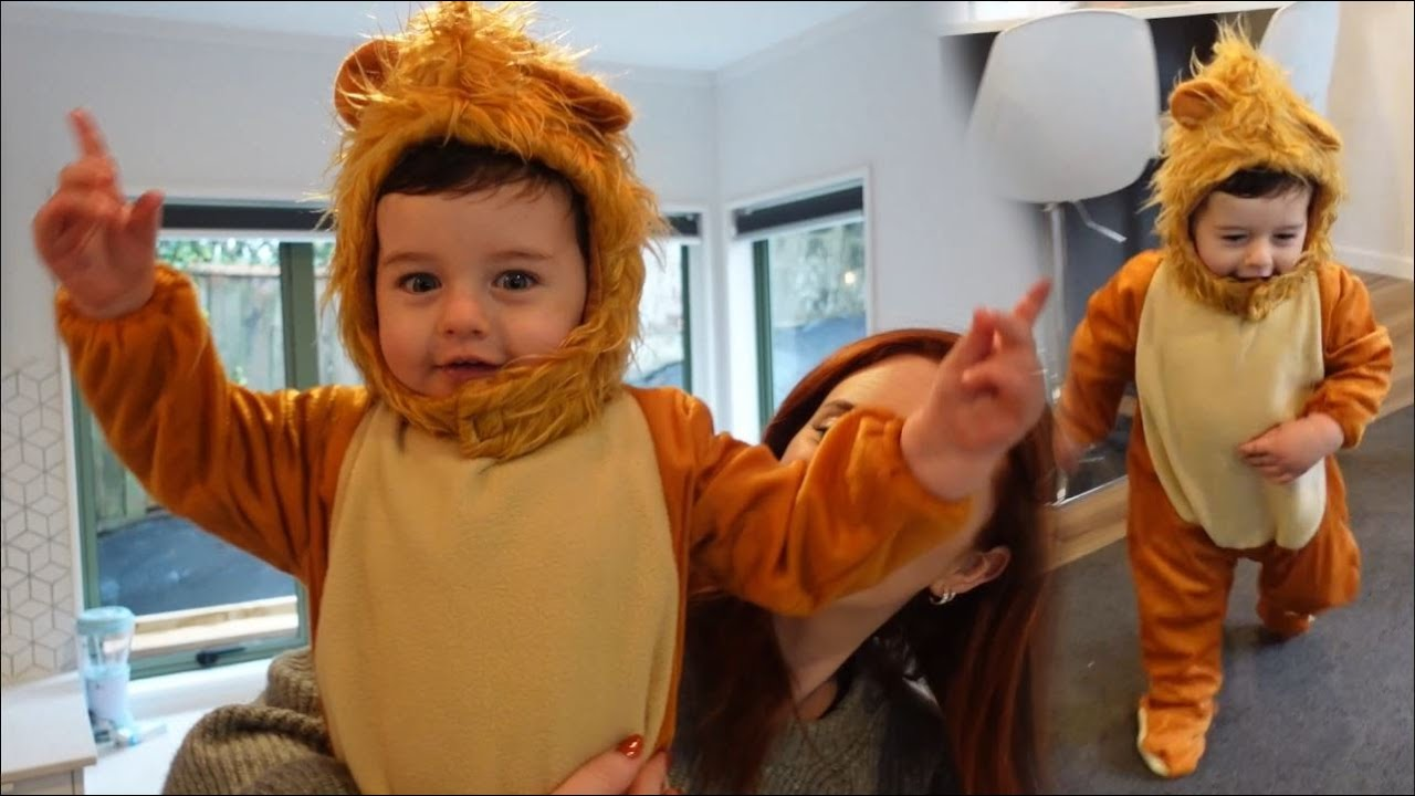 DRESSING UP OUR BABY NOAH AS A LION FOR LION KING *SHER PUTT* 🦁
